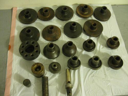 22 Metal press die stamp spherical convex concave curved bowl sphere tooling lot