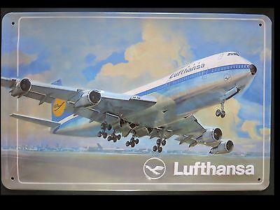 LUFTHANSA, BLECHSCHILD, Flugzeug, BOEING 747