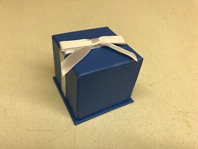 Lot Of 100 Ring Retail Tall Jewelry Gift Box Blue Paper Velvet Bulk Wholesale