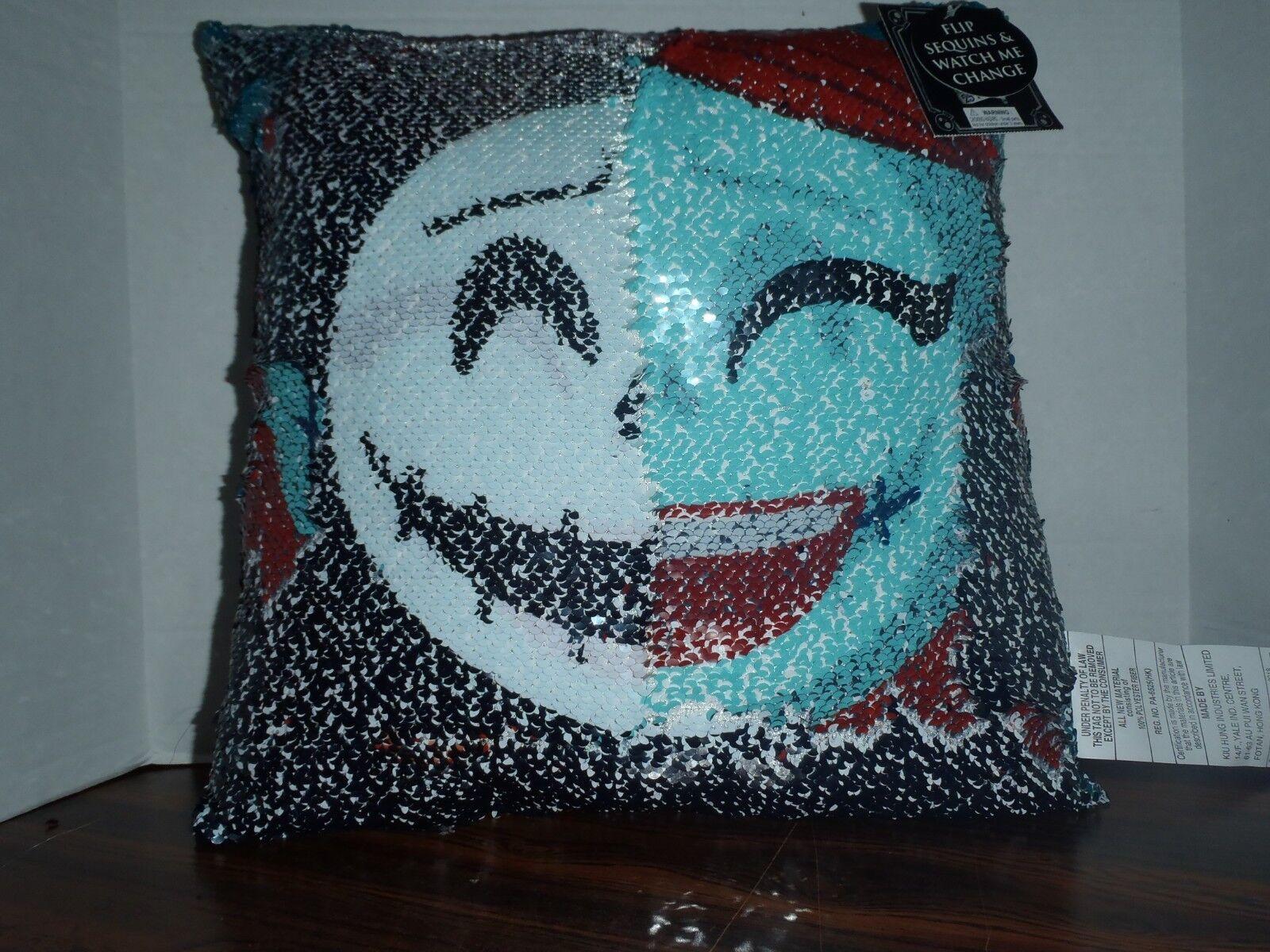 Nightmare Before Christmas Disney Jack Sally Sequin Pillow S