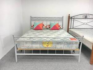 DELIVERY TODAY MODERN SILVER Double bed (mattress available)