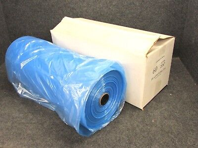 New Dry Cleaning Garment Bags Blue Tint Poly 60 X 21 X 7 Full Roll