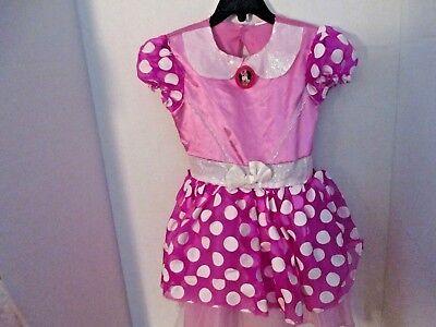 Walt Disney Pink Polka Dot MINNIE MOUSE DRESS Halloween Costume~Girls 3T-4T](Minnie Mouse Halloween Costume 3t)