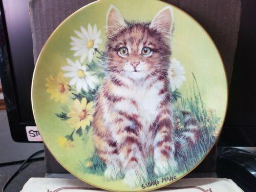 """Hackett American Daisy Cats """"Daisy Cat"""" Collector Plate; by Sadako Mano 1982"""