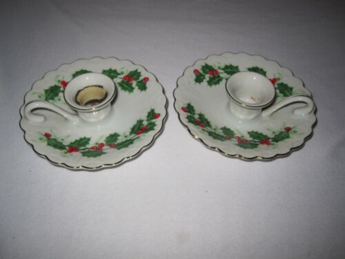 Norcrest Holly Candle Holders XA-33