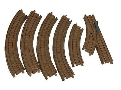 Thomas The Train Trackmaster Zip Zoom Logging Adventure Brown Track 6 Pcs [T2]