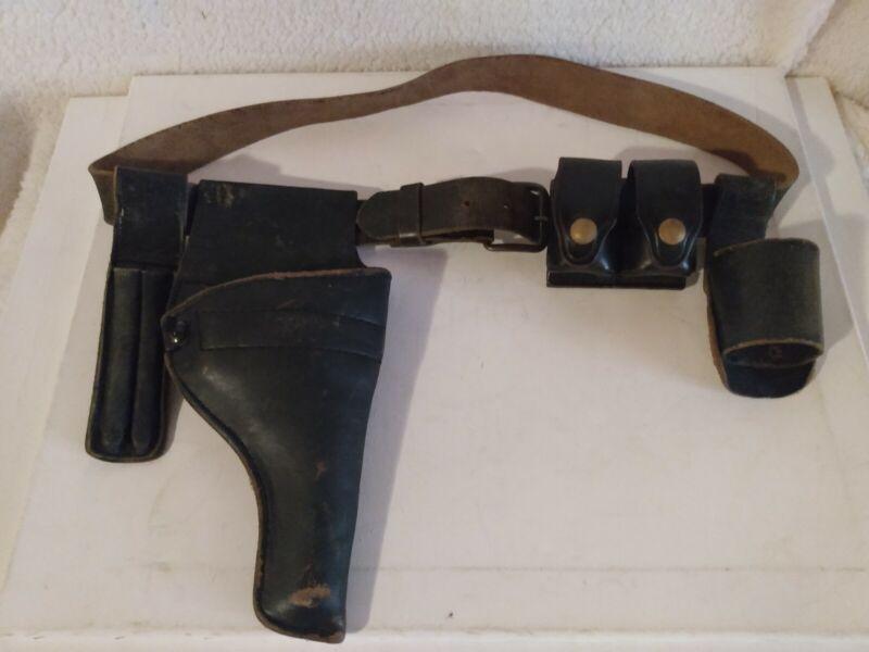 Vintage Leather Spectrum Gun Holster Pistol w / Belt Sunset Reloader