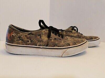 Vans Authentic Nintendo Duck Hunt Camo Skate Shoes Men's Sz 9.5M Sneakers