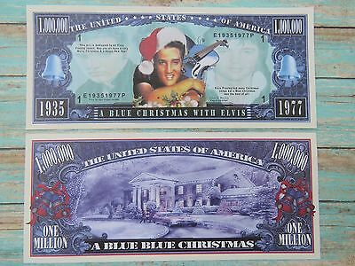 A Blue Christmas with ELVIS PRESLEY Music <^> Hip $1,000,000 One Million Dollars