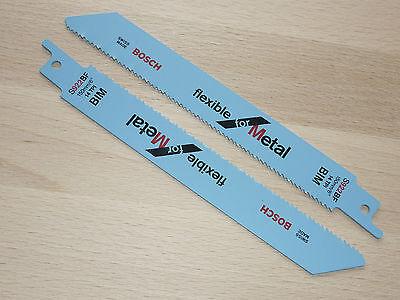 "Bosch 5St. Säbelsägeblätter S 922 BF flexibel für Metall 150 x 19 x 0,9mm /6"""