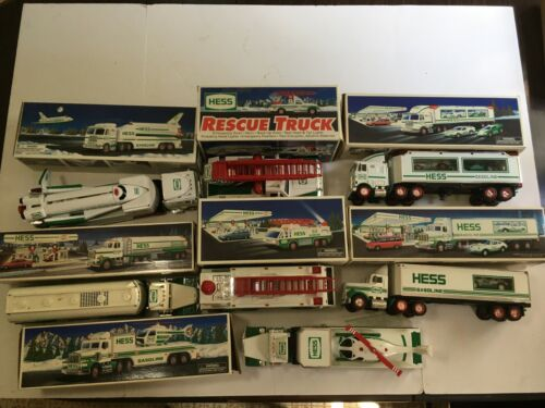 Lot of Seven Hess Trucks VG In Box from the Nineties