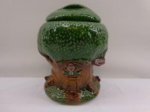 """Vintage 1981 KEEBLER Ernie The Elf HOLLOW TREE HOUSE 10""""COOKIE JAR McCoy Pottery"""