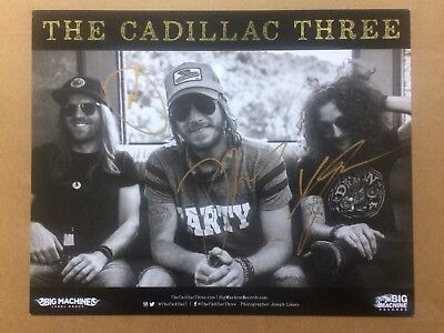 Cadillac Three Fully Signed Band Promo Photo from Big Machine