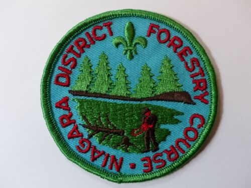 Unused Forestry Course Niagara District Scouts Canada Boy Scout Badge Trees Saw