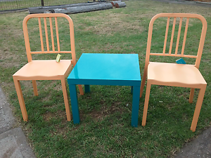Pair of New metal chairs & table ,I also have 2 more chairs $35 Cessnock Cessnock Area Preview