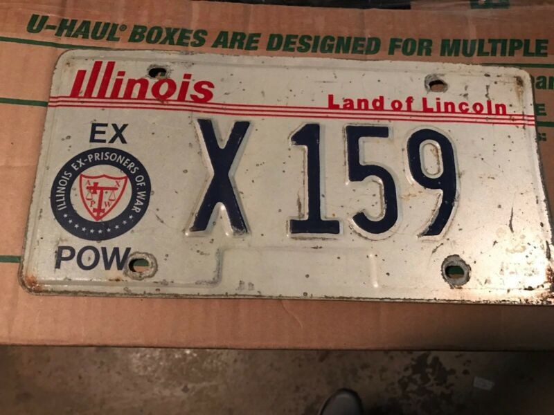 1980s Illinois POW License Plate X159