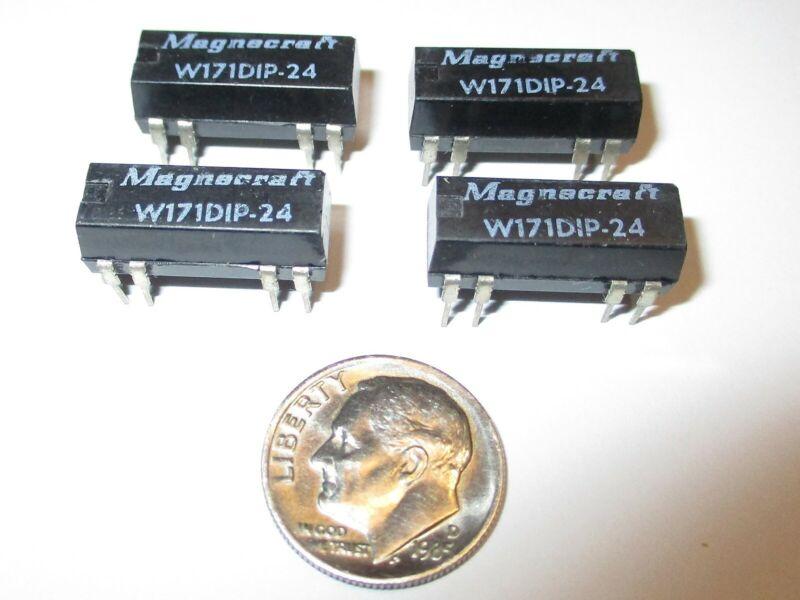 MAGNECRAFT DIP REED RELAY DPST N.O. (2 FORM A)  24V COIL W171DIP-24   1 PCS. NOS