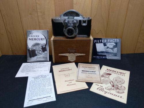 Univex Mercury Model CC vintage camera RARE & UNUSUAL w/ Box and Literature
