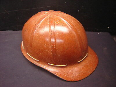 Vintage Davis Fiberglass Hard Hat Helmet Ironworker