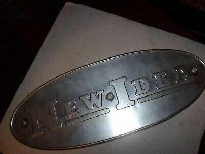 New Idea Corn Picker - K4878 Early Style Oval Name Plates Used Not Perfect