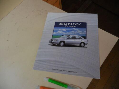 Nissan Sunny DIESEL Japanese Brochure 1998/10 B14 CD20