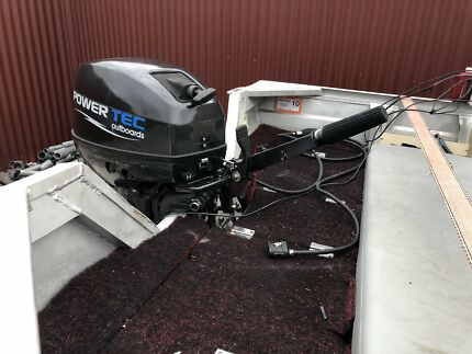 3.75 m Stessco Squire boat with Powertec+ 9.9hp near new engine