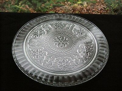 """Indiana Glass Clear Sandwich 13"""" Cake Plate Platter Tray"""