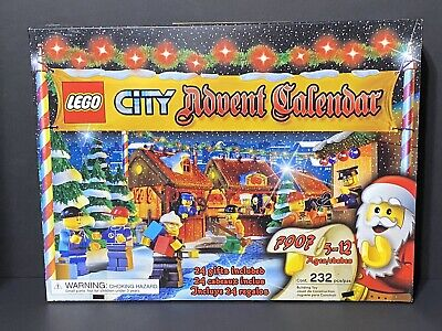 LEGO CITY 7907 CHRISTMAS ADVENT CALENDAR 8 MINIFIGS NEW IN SEALED BOX 2007