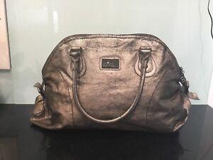 Large Mischa Pewter Silver Handbag