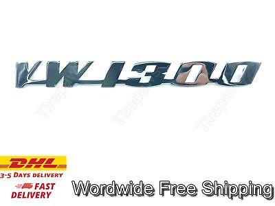 DECKLID SCRIPT EMBLEM VW 1300 STAINLESS STEEL FITS VW TYPE1 BUG BEETLE KAFER