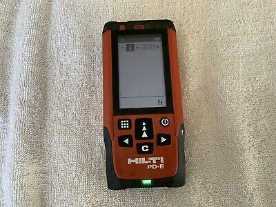 Hilti Pd-e Laser Range Meter Distance Measurer