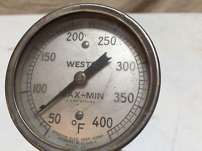 Weston 50-400 Degree F Model 221 Round Temperature Gauge Pipe Thread