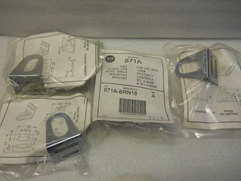 ALLEN BRADLEY 871A-BRN18 MOUNTING BRACKETS 18MM CONTROLS (SET OF 4)  NIP