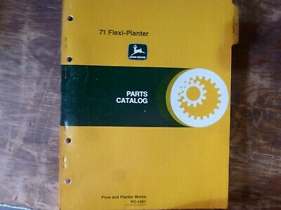 John Deere 71 Flexi-planter Parts Catalog Manual Book Original Pc-1001