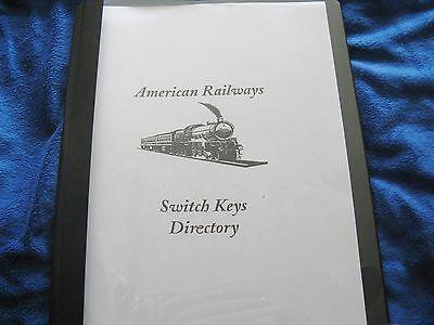 Railroad Barrel Switch Key Directory Reproduced