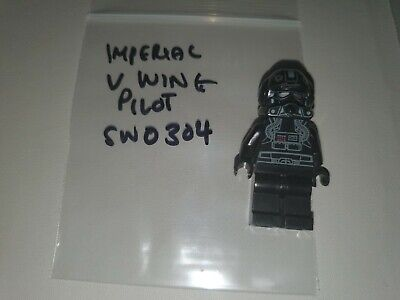 Lego Star Wars Imperial V-wing Pilot Minifig SW0304 SW304 7915