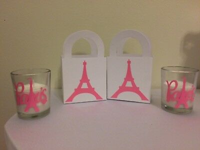 Pink Sweet 16 Themes (50 Piece Paris Favors, Paris Candles, Paris Theme, Paris Sweet 16, Paris)