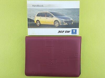 PEUGEOT 307 SW (2005 - 2008) Owners Manual / Handbook + Case / Wallet