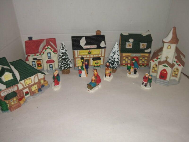 NOMA DICKENSVILLE ~  Christmas 13 Piece Victorian Porcelain village set