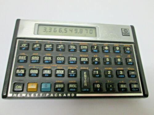 Vintage HP-15C Scientific Calculator w/Slip Cover Hewlett Packard USA Made