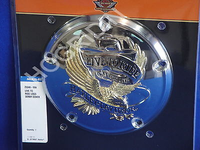 Harley Twin Cam Eagle Live To Ride Derby Cover Dyna Softail Touring Fxd Flht Flt