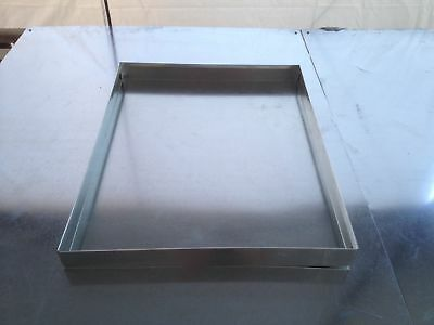 Hvac Drain Pan 22 X 26 X 2 Galvanized 26 Gauge Sheet Metal