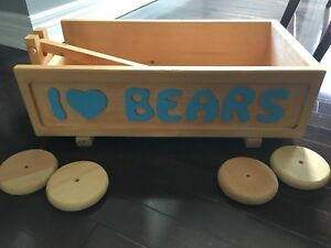 Decorative Wooden Wagon for Nursery
