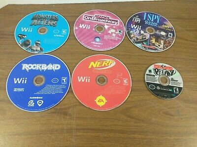 Nintendo Wii Game LOT of 6 Games - Working - Monopoly Party Game Cube -