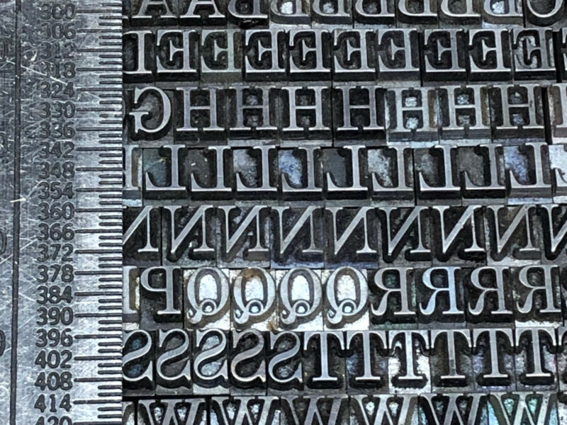 Century 18 pt. - Letterpress - Metal type - Printers Type