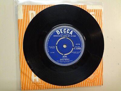 """DAVE BERRY: Mama-Walk, Walk,Talk,Talk-U.K. 7"""" 1966 Decca F.12435 Mono Demo Label for sale  Shipping to India"""