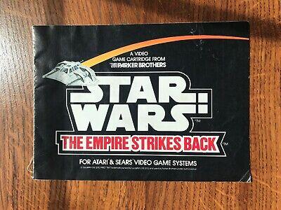 Star Wars Empire Strikes Back Sears & Atari 2600 Instruction Manual Only