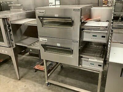 Lincoln Model 1116 Double Stack Natural Gas Conveyor Ovens