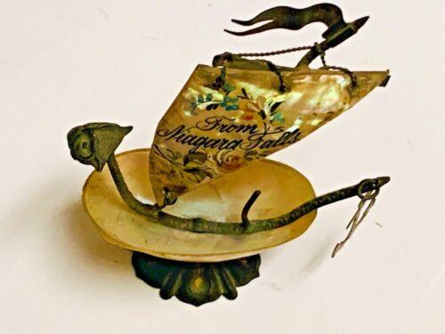 Niagara Falls Souvenir Antique Shell Figural Sewing Thimble Holder