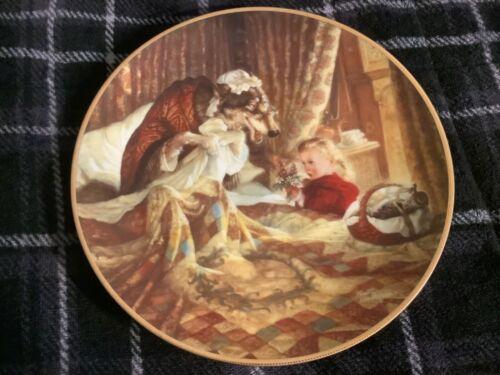 Little Red Riding Hood Plate By Scott Gustafson 1991 Free Ship